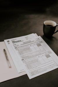 photo of tax return documents